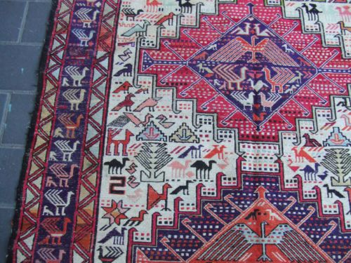 Details about Antique turkish Rug silk Carpet Kilim Rare Hand Made 183×117-cm/72.0×46.0-inches