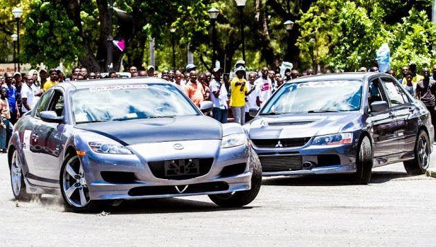 Evo & RX8 Street Racing on Champs de Mars ,Port au Prince Haiti