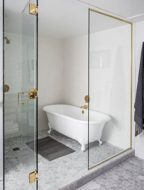 For the hygienically indecisive, we present: The bathtub in the shower. via @PureWow