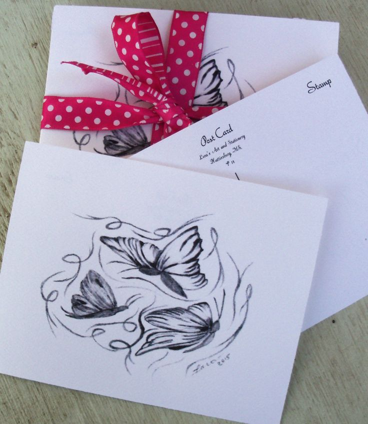POSTCARD SALE / SALE 10 for 1.99 / Reg. 4 for 1.99   Butterfly Postcards / Black and White Postcards / Art  / Butterfly Greetings  P7 by LoraArtandStationery on Etsy