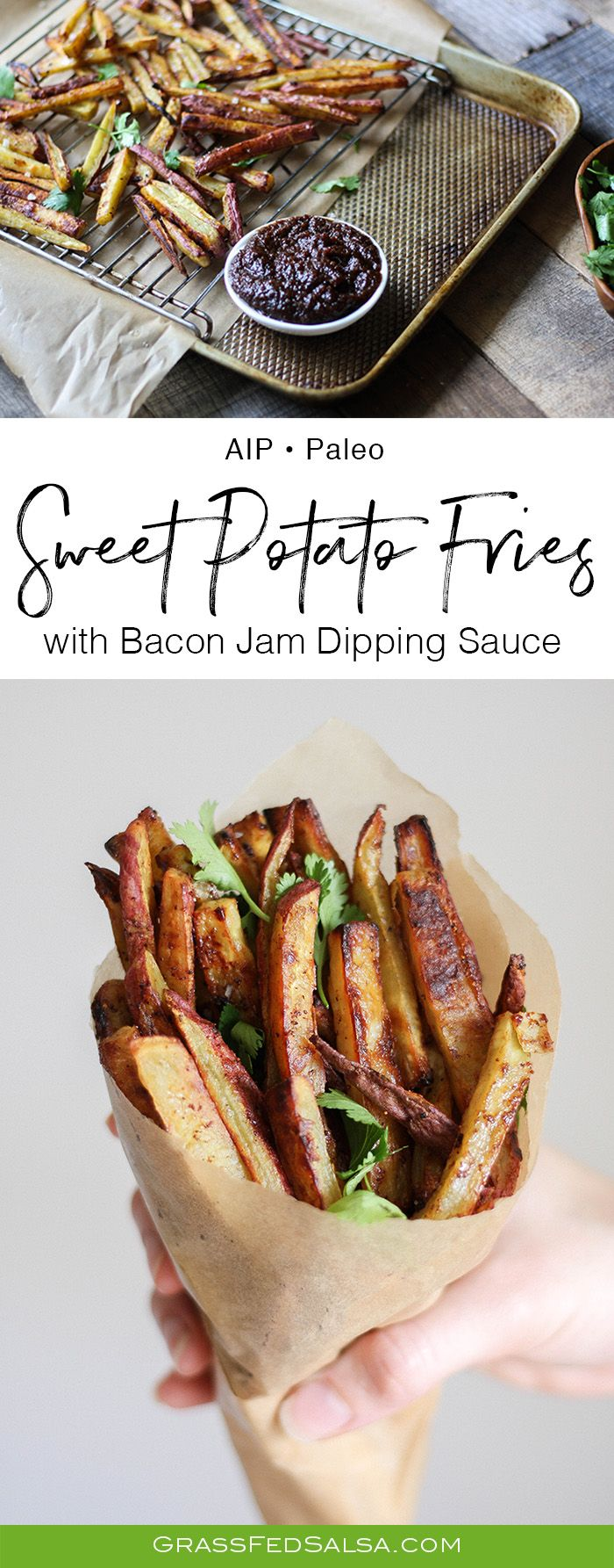 AIP Sweet Potato Fries with Bacon Jam Dipping Sauce