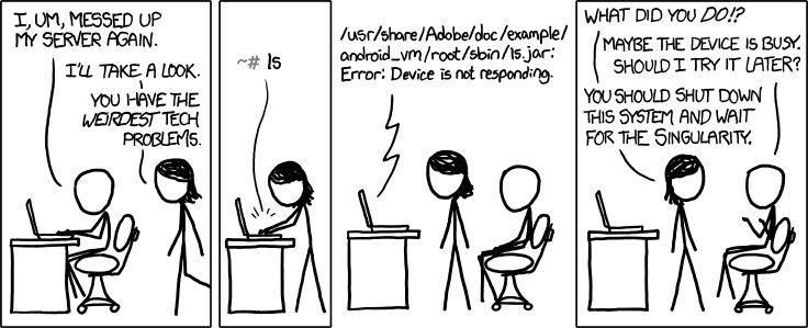 09. Uma referência rápida - a tirinha ultra-geek XKCD do ex-NASA Randall Munroe sobre a singularidade. Vale dar um clique e até navegar pelas outras (todas incríveis), mas não esquece de voltar pra cá.