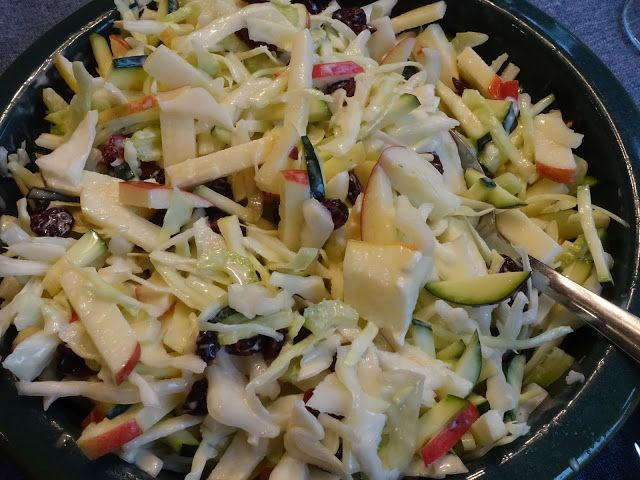 Apple Cabbage Slaw with Balsamic Dressing
