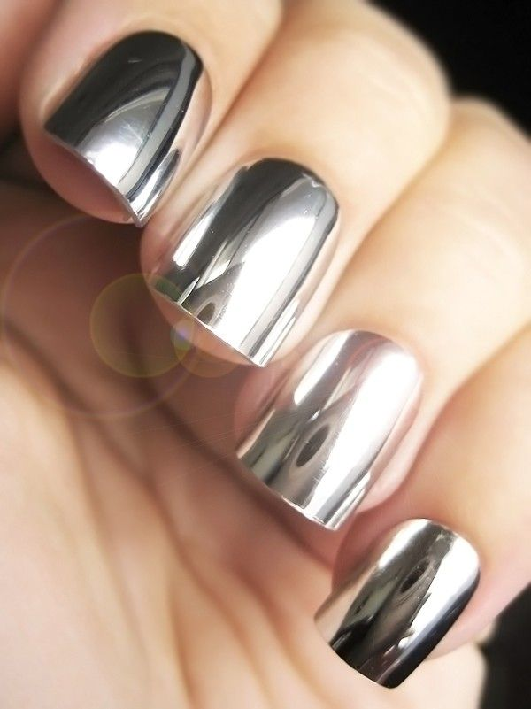 Mirror Nail Sticker  Color- Golden / Silver