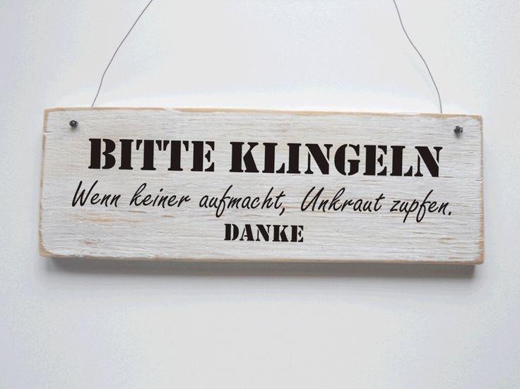 Türschild BITTE KLINGELN Vintage Shabby von dörpkind auf DaWanda.com