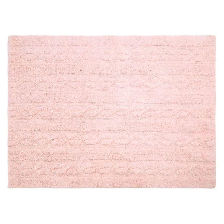 Lorena Canals Braids Textured Kids Area Rug Soft Pink - C-TR-SP-S