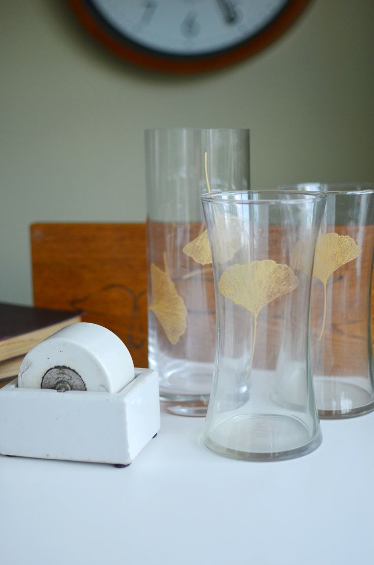 A Nest for All Seasons Martha Stewart Glass Paint Vases