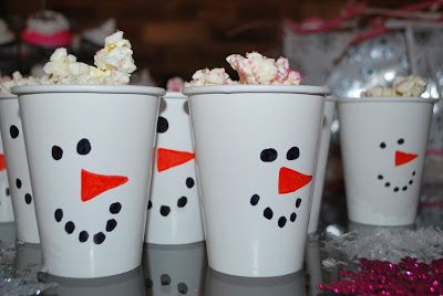 Stella's Winter ONEderland Party -Snowman party cups