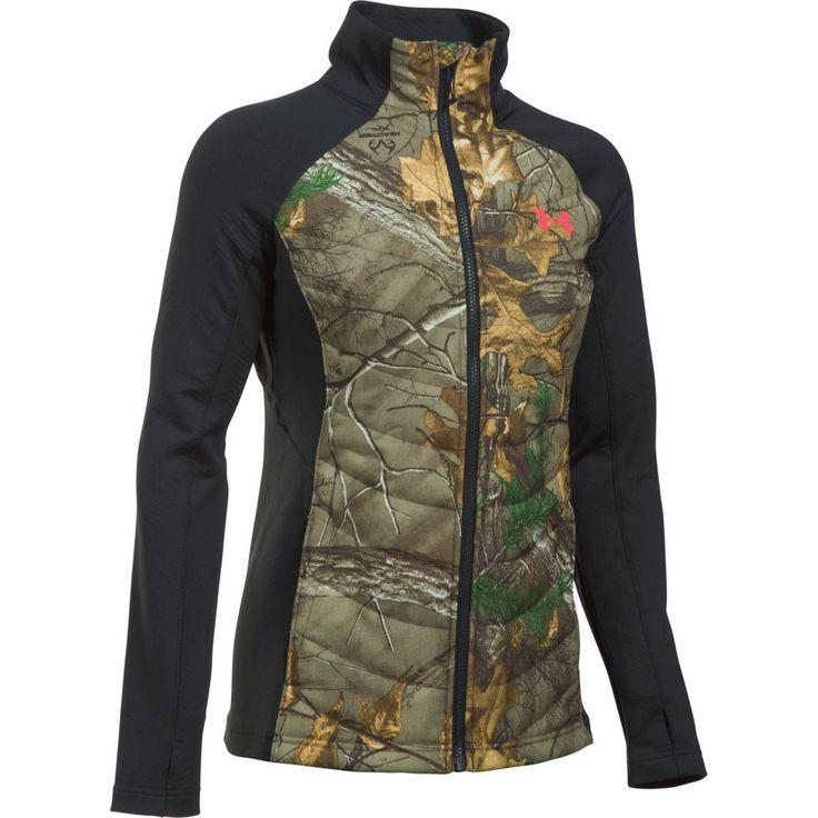 Under Armour Women's Artemis Hybrid Camo Jacket Front Image