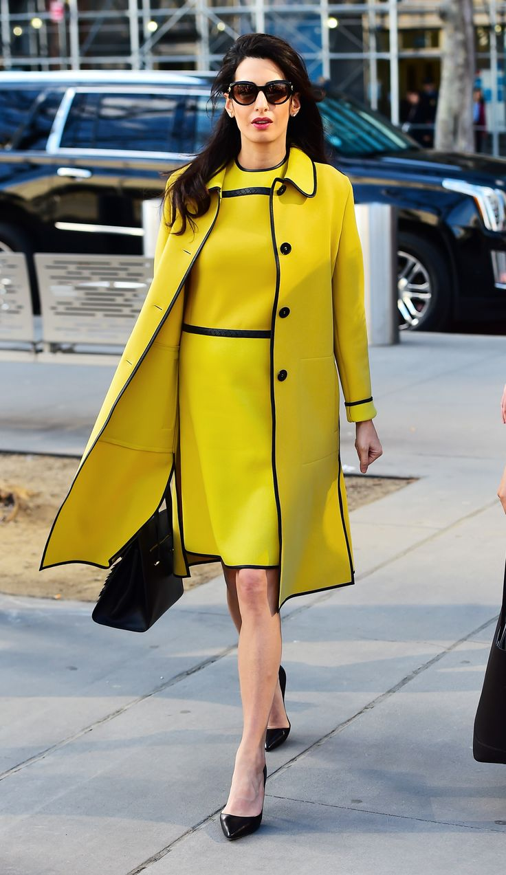 Amal Clooney's Fashionable Maternity Style - March 9, 2017 from InStyle.com