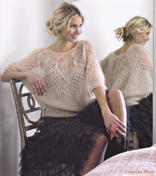 Ажурная блуза из мохера от Lene Holme Samsoe