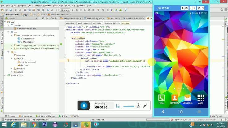 How to Pass Data Between activities Android Studio em 2020