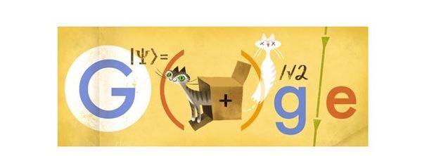 "Doodle Google Erwin Schrödinger: Big G celebra il Nobel del ""paradosso del gatto"""
