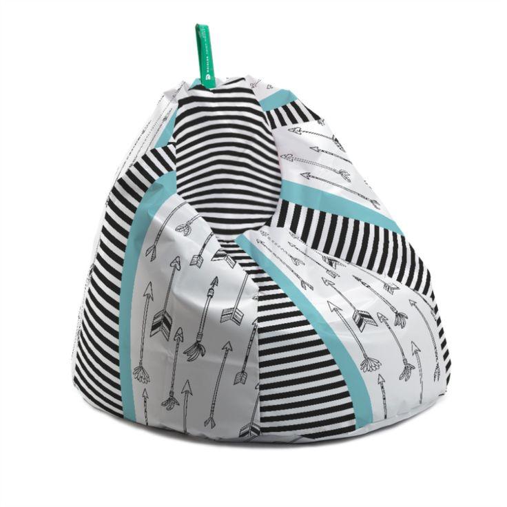 Fotoliu bean bag - stripes on