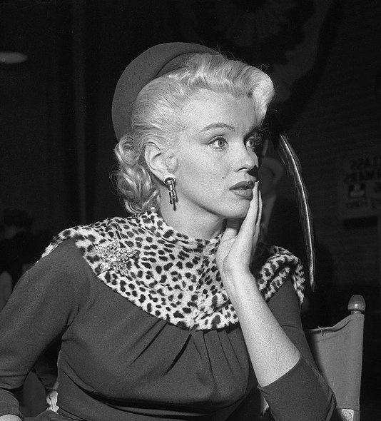 Marilyn Monroe wearing leopard print