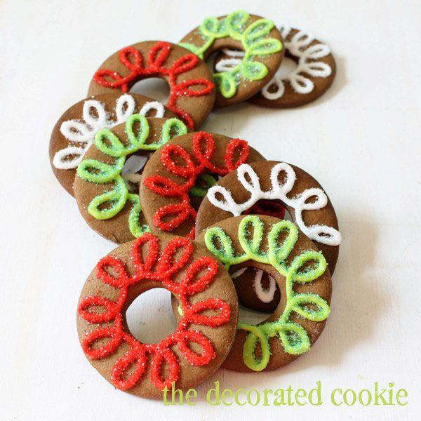 Gingerbread Cookie Rings from thedecorated cookie inkatrinaskitchen.com | Christmas gingerbread cookies and ideas