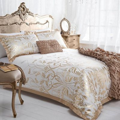 Star by Julien Macdonald Gold 'Deco' duvet cover | Debenhams