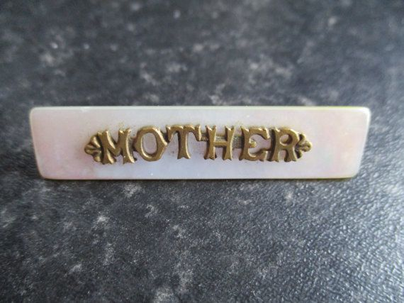 Vintage Mother of Pearl Mother Bar Brooch Mother by VintageHub2016