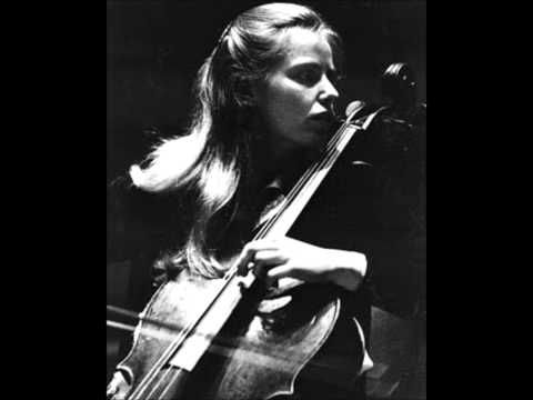 Les Larmes de Jacqueline (Jacqueline's Tears) Op.76 No.2 / Harmonies du soir Op.68 composed by Jacques Offenbach (1819-1880) and dedicated to Arsène Houssaye.  The performance is by Werner Thomas with Münchener Kammerorchester and it's dedicated to Jacqueline Du Pre.