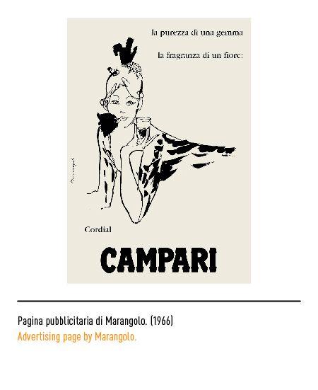 Marchio Campari - Pagina pubblicitaria di Marangolo 1966