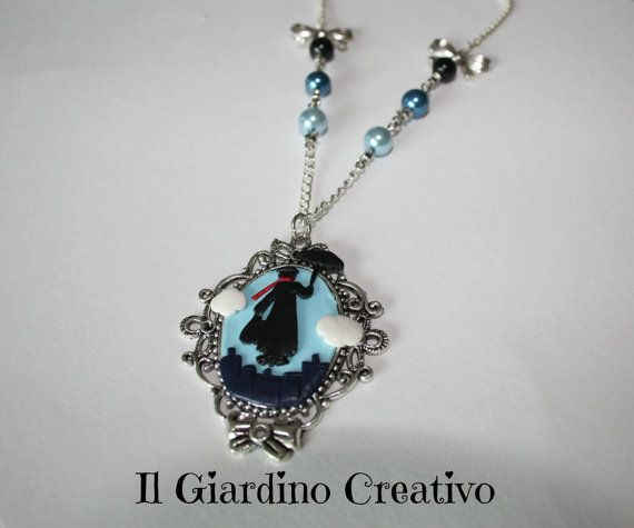 Necklace cameo Mary Poppins handmade by di IlGiardinoCreativo, €15,00