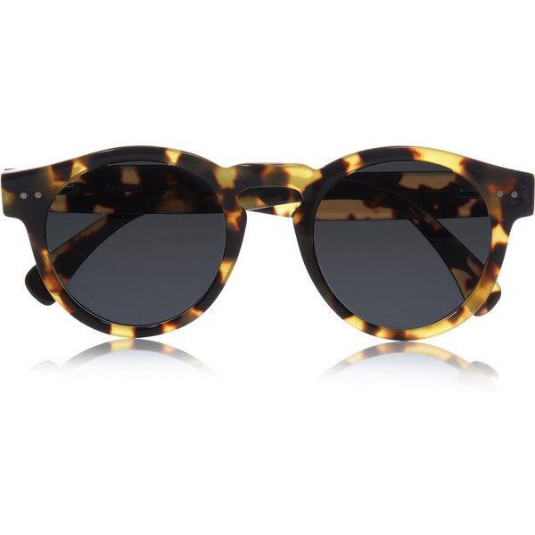 Illesteva Leonard round-frame acetate sunglasses ❤ liked on Polyvore