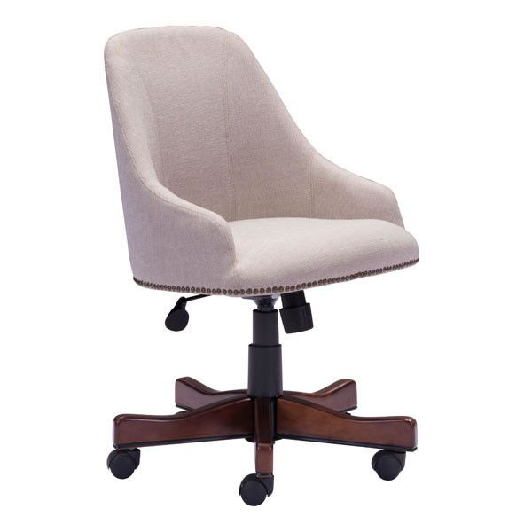 Maximus Office Chair Beige Poplar