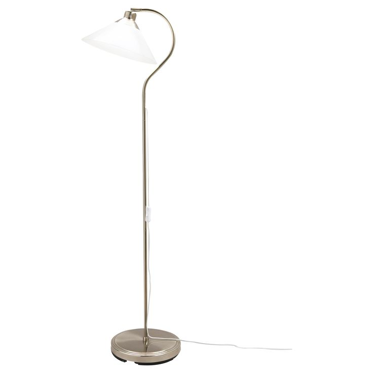 kroby floor reading lamp nickel plated glass floor reading lamps living rooms and room ideas. Black Bedroom Furniture Sets. Home Design Ideas