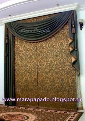 Interior design-curtains. Curtains decoration.Patterns of curtains. Mara Papado - Designer's workroom - Curtains ideas - Designs: Κουρτίνες, σχέδια Ρόμαν, Πακέτα
