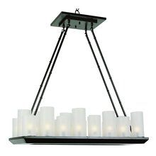 View The Trans Globe Lighting 9958 32 Width 18 Light Linear Pillar Candle Chandelier At Dining Room