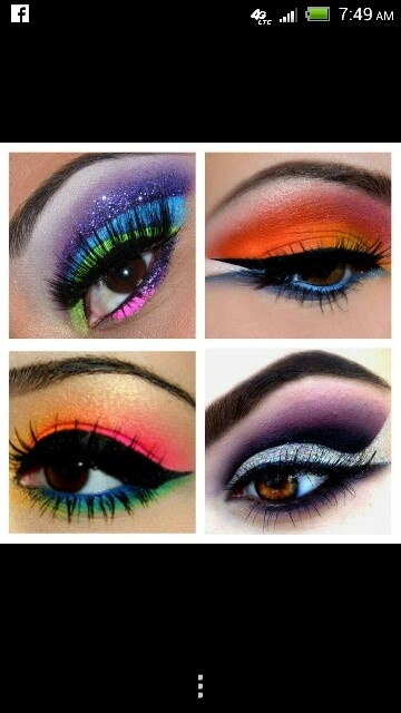 Caribbean inspired fashion show makeup