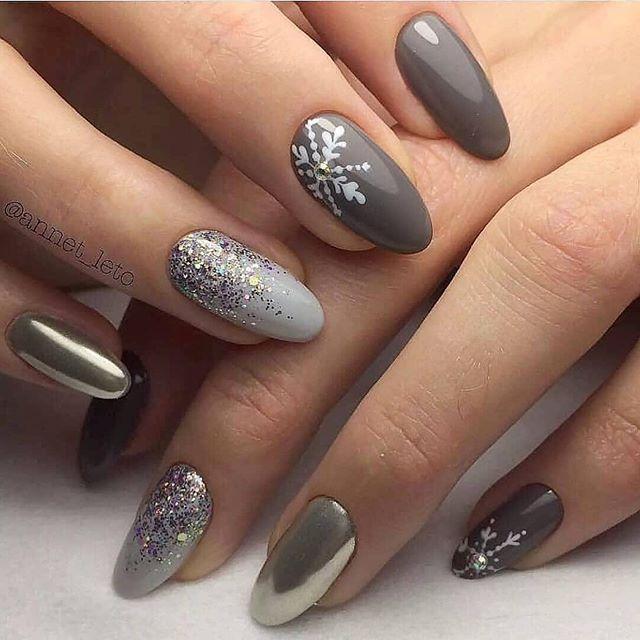 Nails Winter Christmas Nails Winter Nail Designs Long Nails