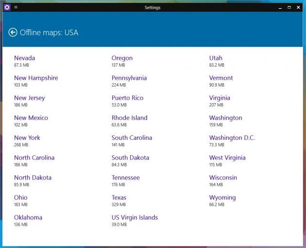 A-Tecno: Mappe offline su Windows 10