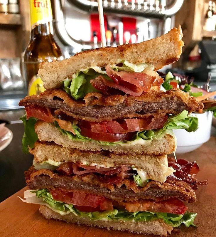 Veal schnitzel BLT from @wurstcalgary. Damn.  http://wurst.ca #yyc #calgary #yyceats #yycfood #foodyyc #yycfoodie #eatdrinkplayyyc #captureyyc #foodies #foodporn #gastropostyyc #403photogang #calgaryfood #sharecalgary #socalitycalgary #instagood #picoftheday