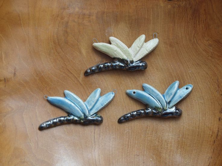 Semi-Precious Stones – Ceramic dragonfly – a unique product by Efraim_jewellery on DaWanda