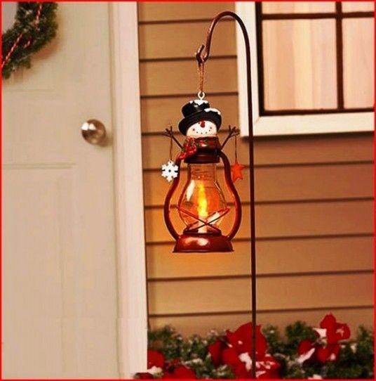 Lamp Snowman Outdoor Decor 593x600