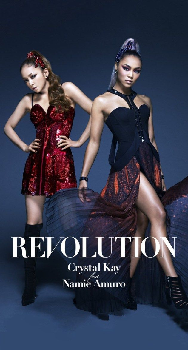 Crystal Kay feat.安室奈美恵REVOLUTION iPhone壁紙 Wallpaper Backgrounds iPhone6/6S and Plus クリスタルケイ Namie Amuro