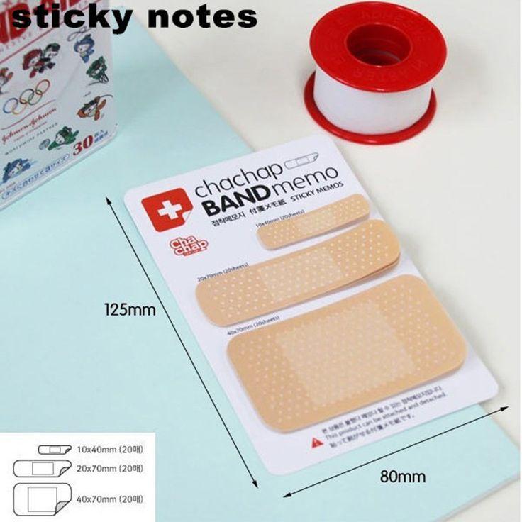 1 stück Nette Band Aid Serie Notizblock Post It Aufkleber Haftnotizen Papier Notepad Kawaii Briefpapier Büro