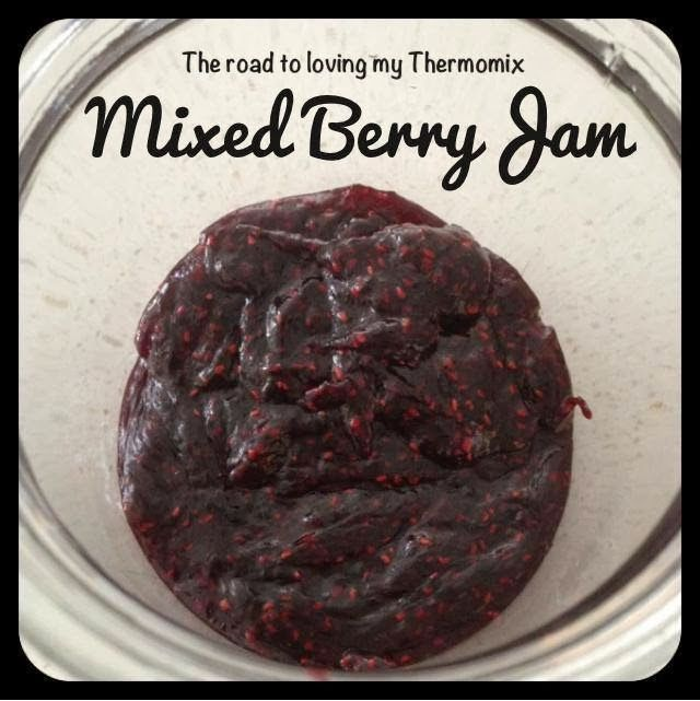 The road to loving my Thermomix: Mixed Berry Jam