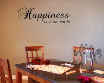 Happiness is homemade. - Wall Decals - Wall Vinyl - Wall Decor - Kitchen wall decal - Kitchen wall vinyl saying - Kitchen decor saying