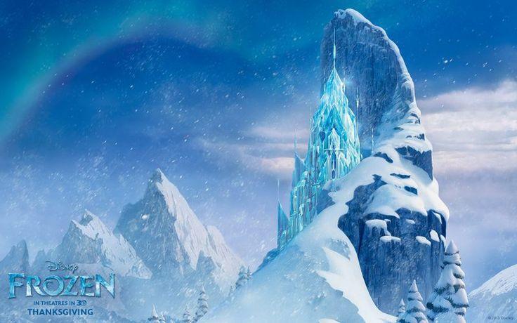 castillo hielo frozen disney fondos