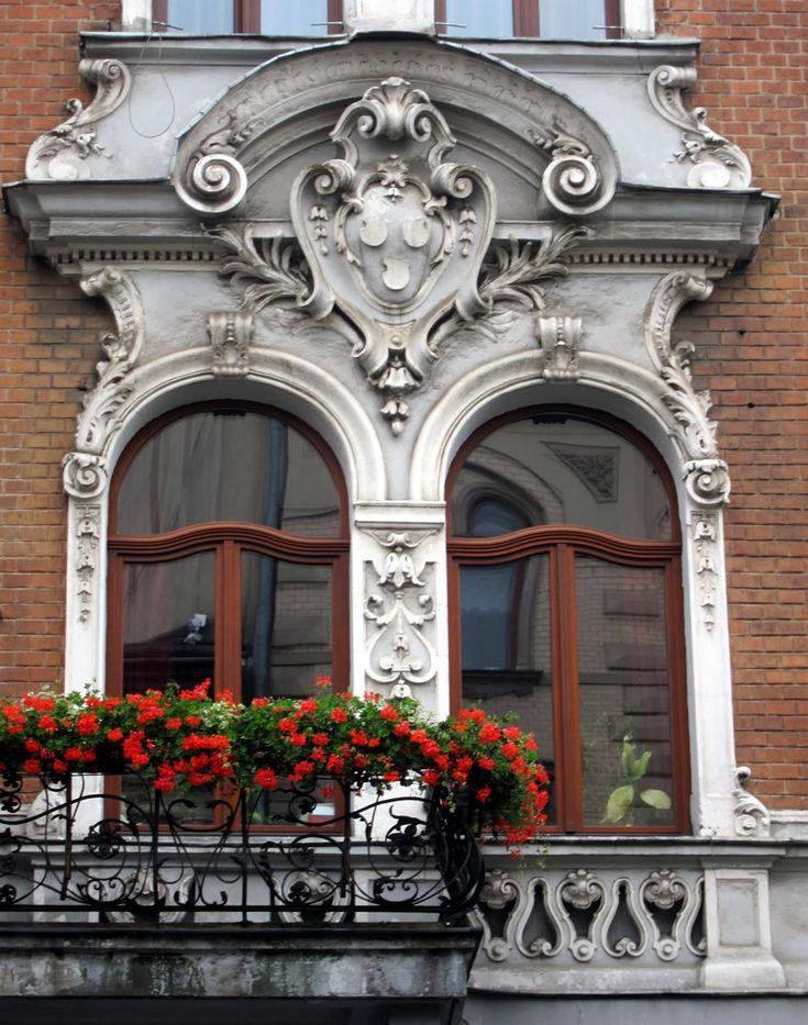Baroque window balcony in Kraków, Poland