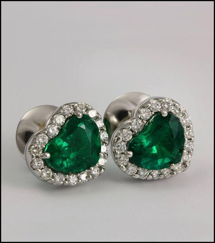 Ref. 3L Aretes de esmeraldas en forma de corazón.