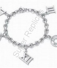 Tiffany Atlas Charm Bracelet 1024  Model #: TFBR-1024    $71.99  * Sterling silver * 7 long * Includes a Tiffany  Co. gift box, dust pouch, sterling care card, and Tiffany  Co. shopping bag.