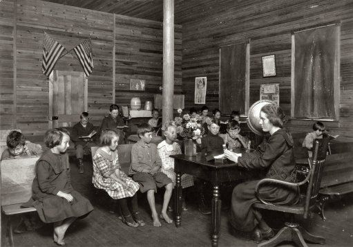 October 7, 1921. School in Session. Sunset School, Marey, West Virginia.