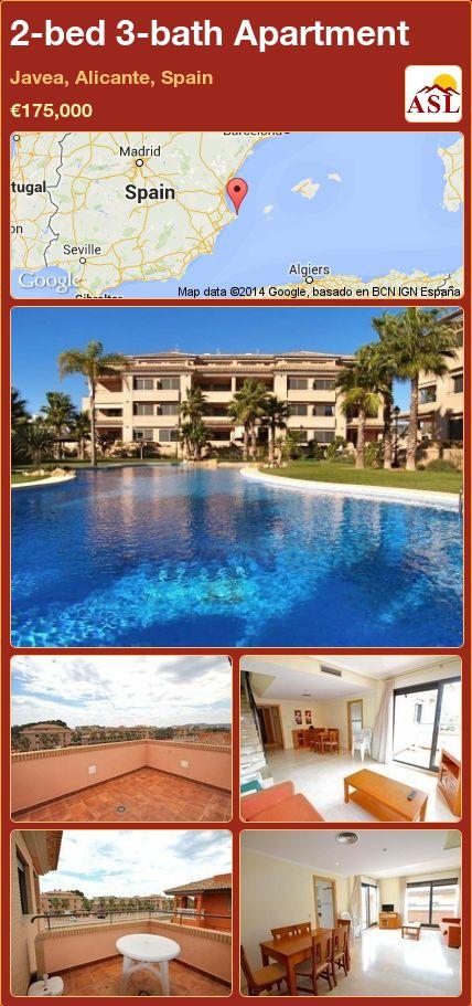2-bed 3-bath Apartment in Javea, Alicante, Spain ►€175,000 #PropertyForSaleInSpain