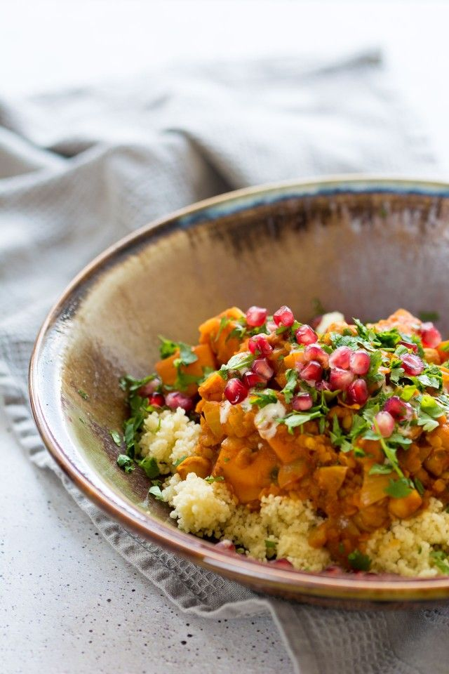 A simple one pot Sweet Potato and Chickpea Moroccan Style Stew is perfect for freezing so you always have a delicious, hearty meal on hand on those days when you just don't have time!