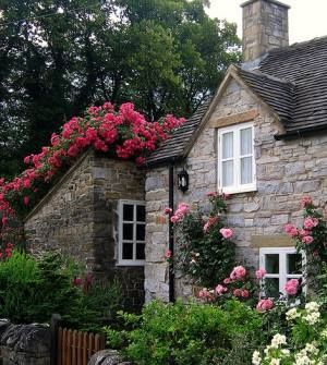 A beleza dos jardins das cottages!