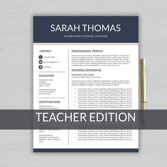 teacher resume template templates word teaching microsoft format in free download