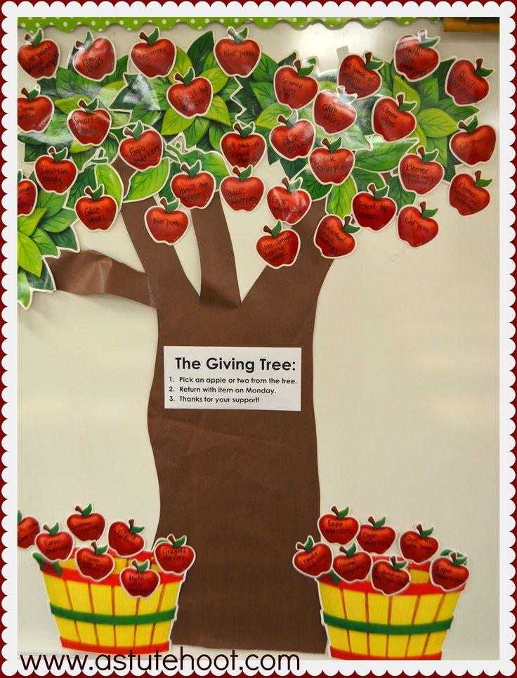 Classroom Giving Tree Ideas ~ Best classroom donation ideas on pinterest back to